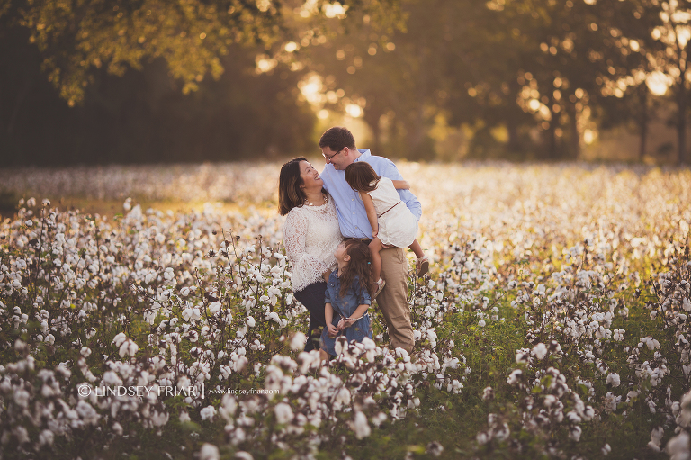 Family Photography in Cotton Fields located in Milton Florida